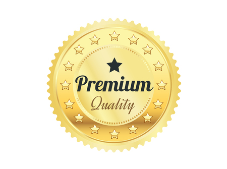 Or Badge Premium Quality Banque d'images - 45510018