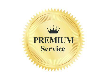 Golden Premium Quality Badge