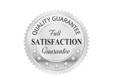 sellos: Insignia de plata de calidad superior Vectores