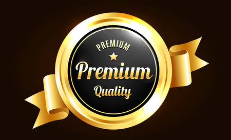 Or Badge Premium Quality Banque d'images - 45510104
