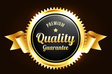 Goldene Premium Quality Badge Standard-Bild - 45510105