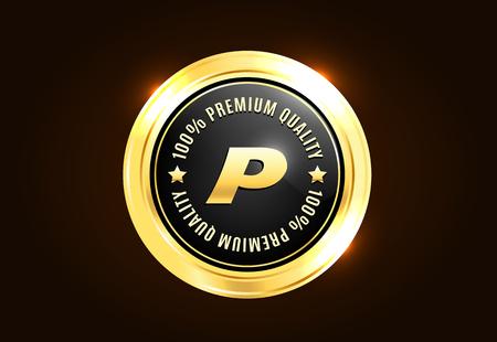premium: Golden Premium Quality Badge