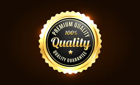 high quality: Golden Premium Quality Badge