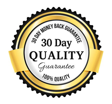 Goldene Premium Quality Badge Standard-Bild - 45510128