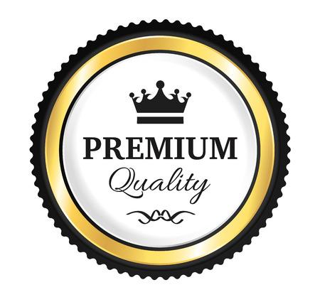 Goldene Premium Quality Badge Standard-Bild - 46073637