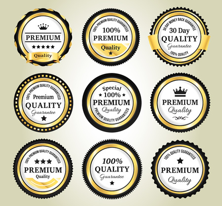 quality guarantee: Golden Quality Guarantee Badges