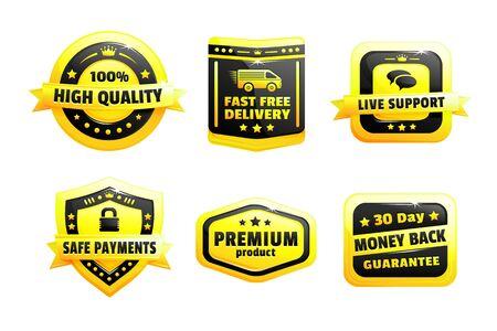 high quality: A Set Of High Quality Badges