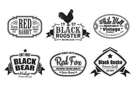 Vintage Labels Illustration