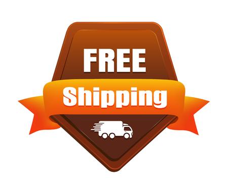 Free Shipping Badge Illustration