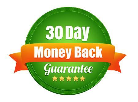 Thirty Day Money Back Guarantee Illustration