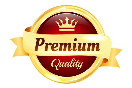 qualities: Premium High Quality Golden Badge