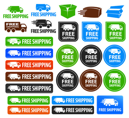 shipping package: Free Shipping Badges