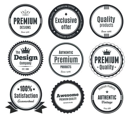vintage badge: Nine Scalable Vintage Badges
