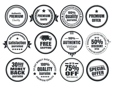guarantee: 12 Vintage Ecommerce Badges