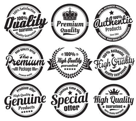 high quality: Premium High Quality Guarantee Badges