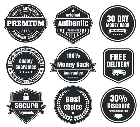 Dark Vintage Ecommerce Badges