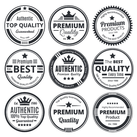 scalable: Nine Scalable Vintage Badges