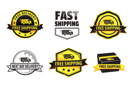 next day: Free Shipping Badges