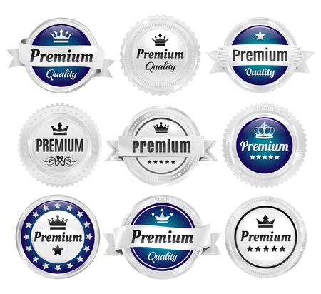 Silver Premium Quality Badges