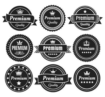 Insignes qualité Solide Couleur premium Banque d'images - 46431287