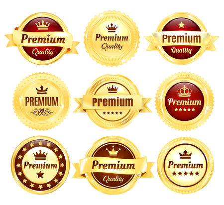 premium quality: Golden Premium Quality Badges
