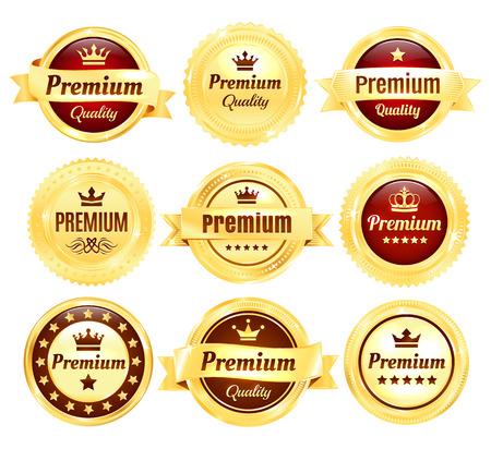 Golden Premium Quality Badges
