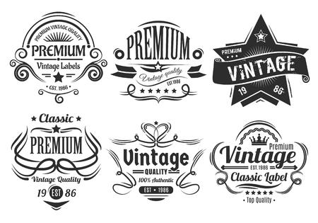 Vintage Labels 일러스트