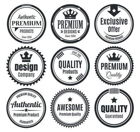Nine Scalable Vintage Badges 스톡 콘텐츠 - 104179467
