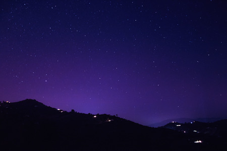 Mountain and stars in Malaga, Spain
