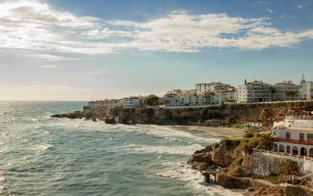 Balcon De Europa, Malaga, Espagne Banque d'images - 72624774
