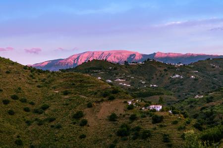 Landschaft Berge in Malaga, Spanien Standard-Bild - 76911401