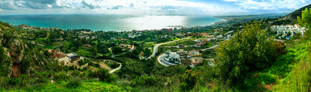Coastal Panorama in Malaga, Spain 스톡 콘텐츠