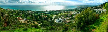 Coastal Panorama in Malaga, Spain Stok Fotoğraf