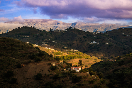 Landscape Mountains in Malaga, Spain Banque d'images