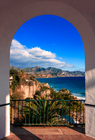 Balcon De Europa, Malaga, Espagne Banque d'images - 76911409