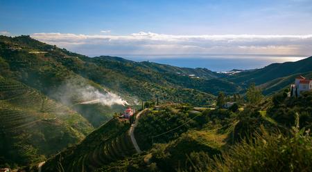Landscape Mountains in Malaga, Spain Standard-Bild