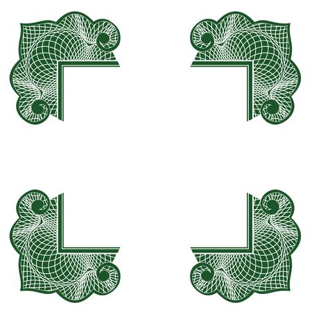 guilloche: Guilloche decorative corners for many purposes