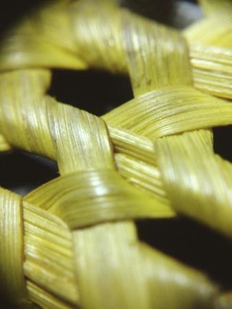 Weaved Abaca in yellow  Stock Photo