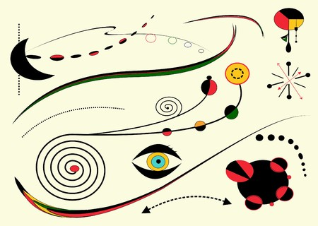 Abstract light background, style Miro `painter