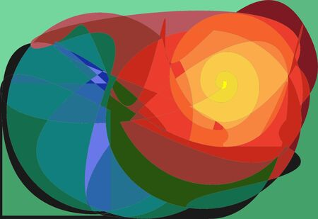 Abstract colorful background, yellow rose