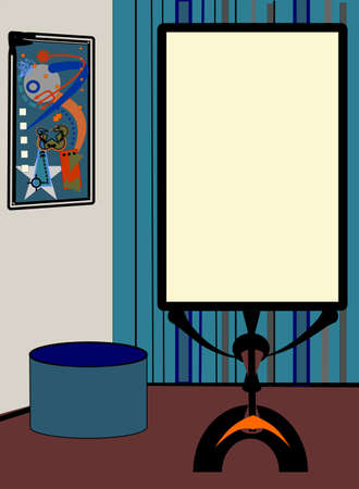 abstract background, fancy room, mirror whit empty space for your text