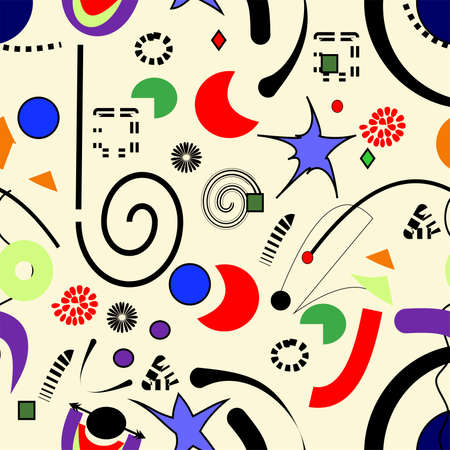 Abstract surrealist background, seamless pattern