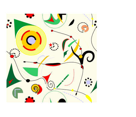 Abstract beige surrealist background, seamless pattern