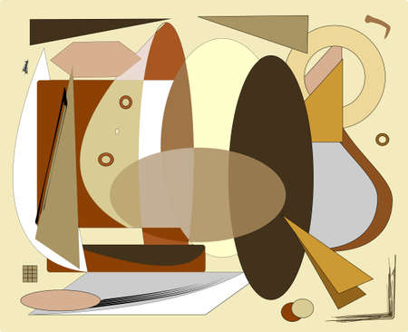 Abstract beige brown background, leather cut-outs Иллюстрация