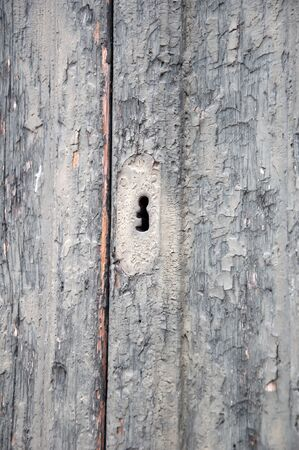 keyhole on the old door as a background photo