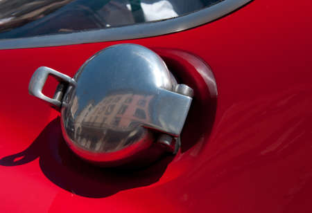benzin: automobile, chrome gas tank lid