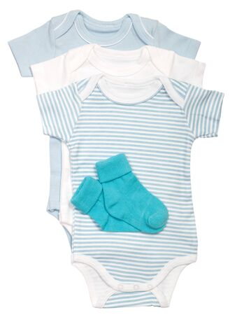 clothing for newborns isolated on a white background Stock Photo - 14804212