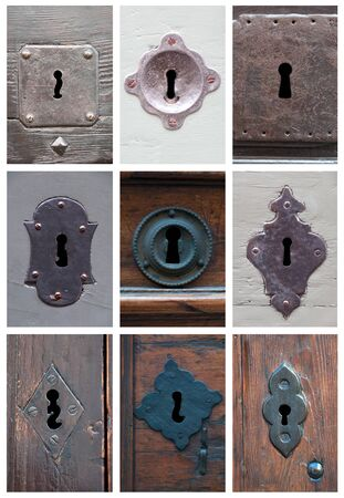 collage of old keyholes photo