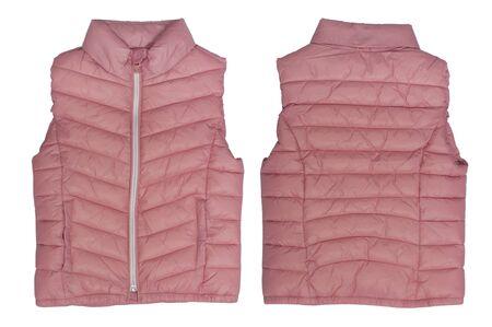 waistcoat: pink waistcoat isolated on a white