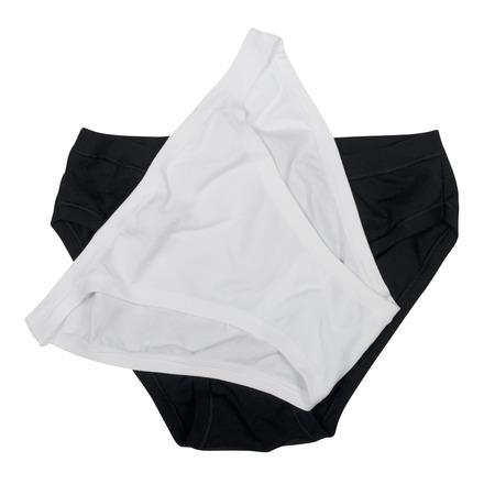 white panties: Schwarz-Wei�-H�schen auf wei�em